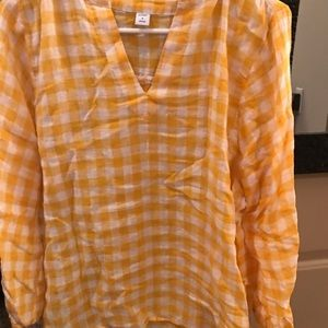 Yellow Plaid Old Navy Shirt.